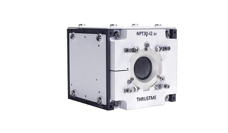 Le moteur Ionique NPT30-I2, un propulseur électrique à grille utilisant l'Iode comme propulsif. Image ThrustMe